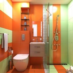 łazienka z szafkami