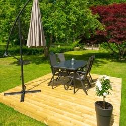 zestaw mebli ogrodowych, parasol