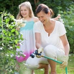 podlewanie roślin w ogrodzie