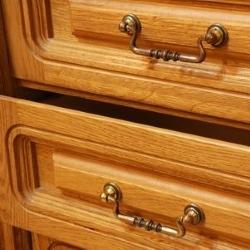 szuflady komody z frezami