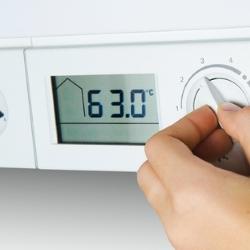 ustawianie temperatury kotła
