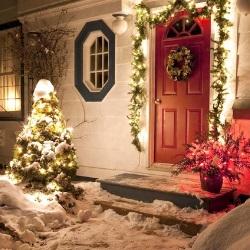 śnieg przed domem