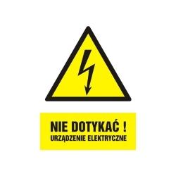 tabliczka informująca o wysokim napięciu