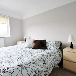 jasne kolory w sypialni