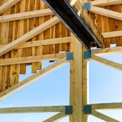 Drewniana konstrukcja dachowa
