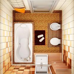 mała łazienka układ pomieszczenia