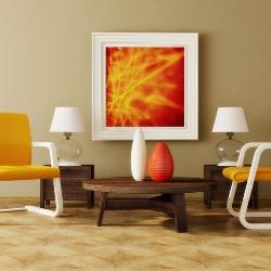 obraz na ścianie w salonie