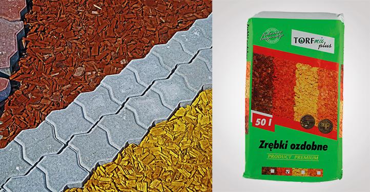 Zrębki dekoracyjne Torf-Mix 50 l żółte