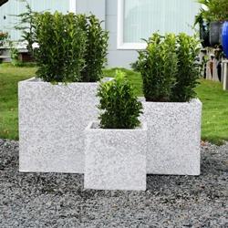 Doniczka Blooma Coralstone 40 x 40 x 40 M szara