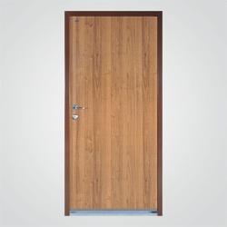 Drzwi wejściowe stalowe WSL-1000PP 90 cm prawe orzech