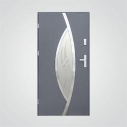 Drzwi zewnętrzne stalowe Splendoor Szafir 90 cm lewe antracyt