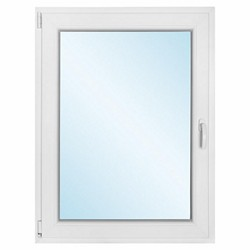 Okno PCV rozwierno - uchylne 865 x 1135 mm lewe