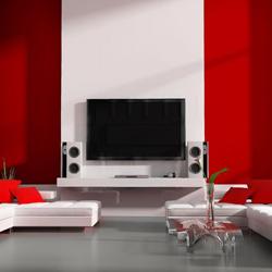 telewizor w aranżacji salonu, uchwyt, mocowanie
