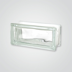 Pustak szklany bezbarwny Chmurka 19 x 9 x 8 cm