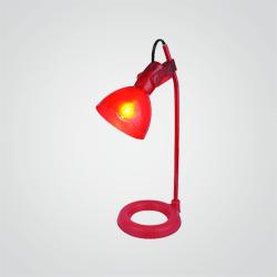 Lampka biurowa Colours Tempe 1 x 9 W E14 czerwona