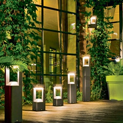 Lampa ogrodowa stojąca LED Blooma Retz 12 x 0,54 W grafitowa 80 cm