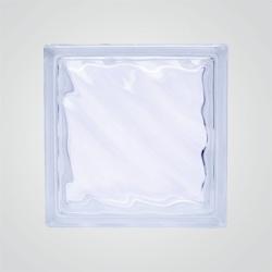 Pustak szklany bezbarwny Fala 19 x 19 x 8 cm