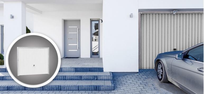 Brama uchylna Garsta 247 x 209 cm biała