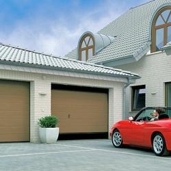 Brama garażowa segmentowa z napędem EcoStar 2500 x 2125 mm brązowa