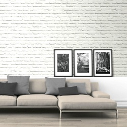Tapeta papierowa White Wall