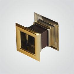 Osłona wentylacyjna Awenta drzwiowa 45 x 45 mm metal złoto