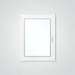 Okno PCV rozwierno - uchylne 865 x 1135 mm białe lewe