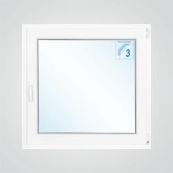 Okno PCV rozwierno - uchylne 865 x 835 mm prawe