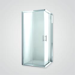 Kabina prysznicowa Cooke&Lewis Verona 80 cm aluminium / dymiona