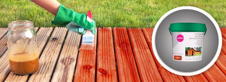 Impregnat ogrodowy Colours mahoń 1 l
