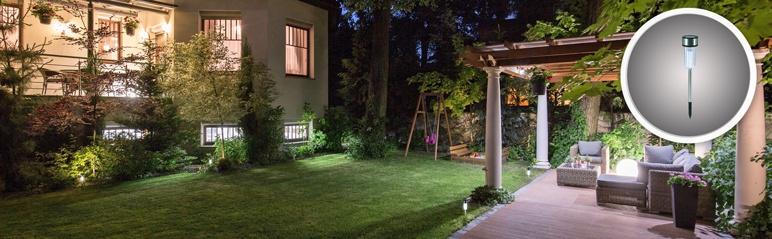 Lampa ogrodowa solarna 1 x LED inox