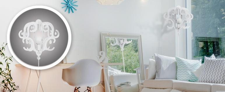 Lampa podłogowa Katerina 1 x 60 W E27 biała