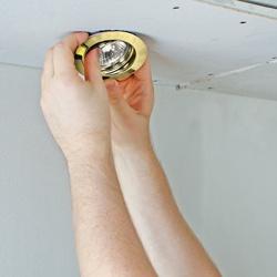 Zestaw halogenowy okrągłych oczek ruchomych ANS-Lighting 3 x 50 W GU10 złoty