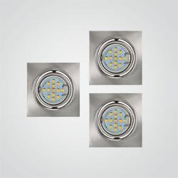 Oprawy oczkowe ruchome kwadratowe LED ANS-Lighting 3 x 35 W GU10 satynowe srebro