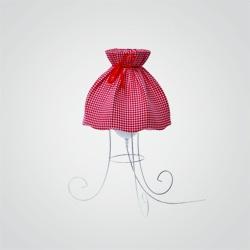 Lampka stołowa Colours Sweet 1 x 40 W E27 kratka czerwona