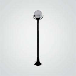 Lampa stojąca Opal 148 cm czarna