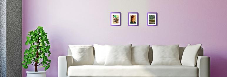 """Fotorama """"I"""" liliowy wrzos 10 x 15 cm"""