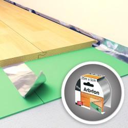 Taśma aluminiowa do łączenia podkładów Arbiton Izo Floor Tape 25 m