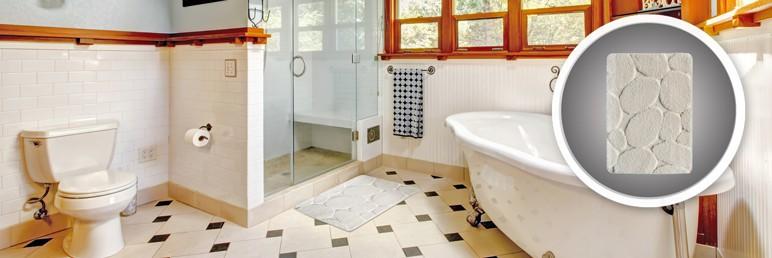 Dywanik łazienkowy Cooke&Lewis Eldorado 50 x 70 cm kremowy