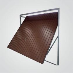 Brama uchylna Legbud Gargula Garsta 257 x 209 cm brązowa