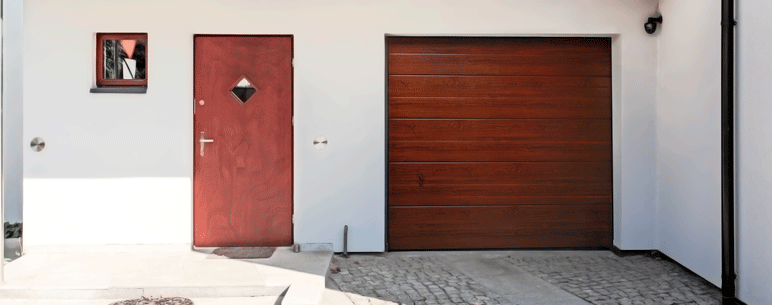 Brama garażowa segmentowa Splendoor 2540 x 2125 mm złoty dąb