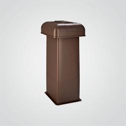 Nasada kominowa Wirplast Betawent K6302W brązowa
