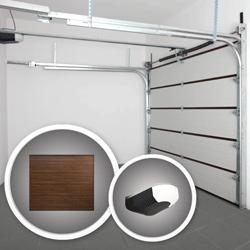 Brama garażowa segmentowa Splendoor 2500 x 2150 mm orzech z napędem