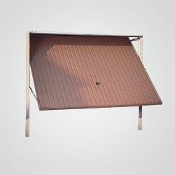 Brama garażowa uchylna GSL 2500 x 2125 mm brązowa