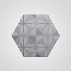 Dekor Madelaine 17,5 x 17,5 cm antracyt 1 m2