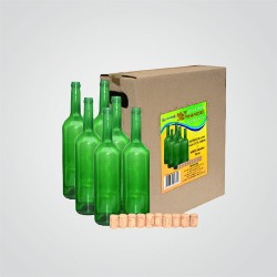 Zestaw końcowy Terdens 1 6 butelek + 10 korków