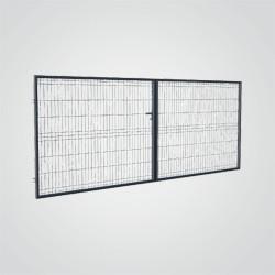 Brama panelowa Polargos Sparta 400 x 150 cm ocynk antracyt