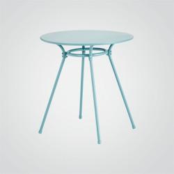 Stół okrągły Gloria 70 cm turkusowy