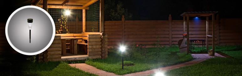 Lampa ogrodowa solarna 1 x LED szara
