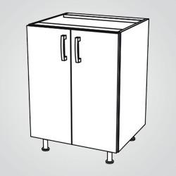 Szafka kuchenna dolna 2-drzwiowa City II D-60/2 titanium
