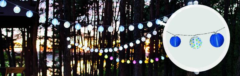 Lampki solarne kulki Blooma 20 LED x 1,2 W niebieskie